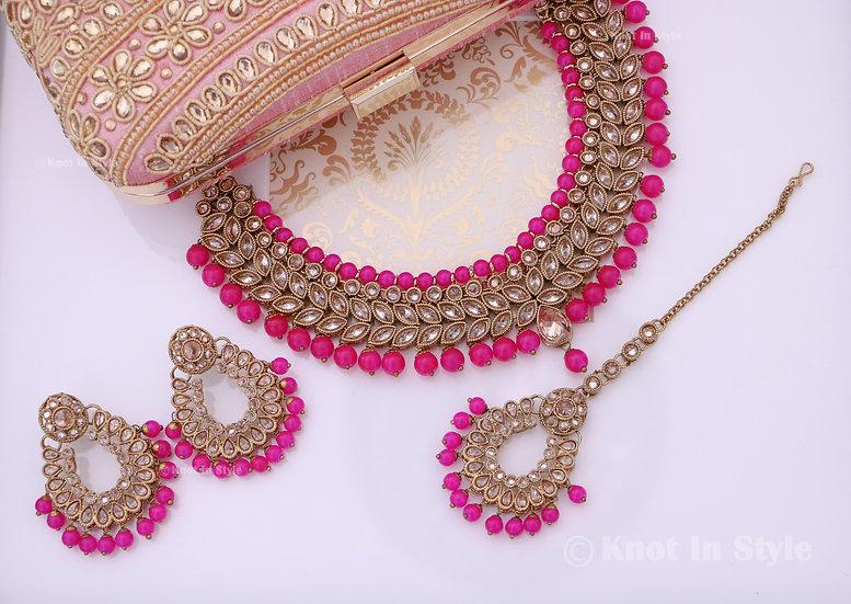 Polki necklace set