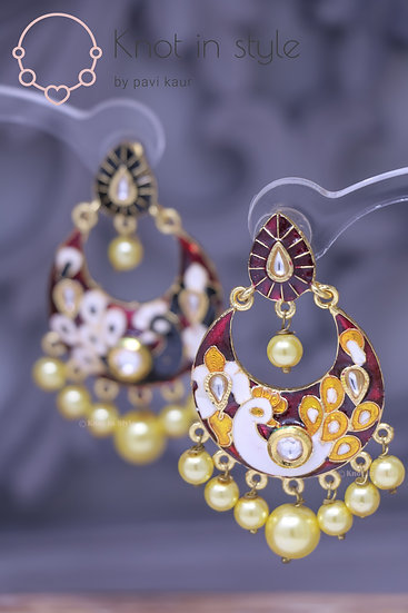 Hand-painted earrings (no tikka)