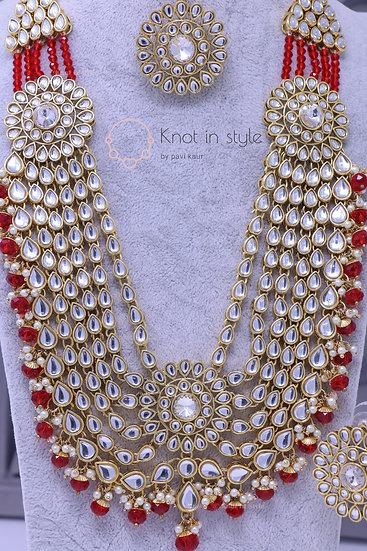 Polki necklace set ( Long haar )