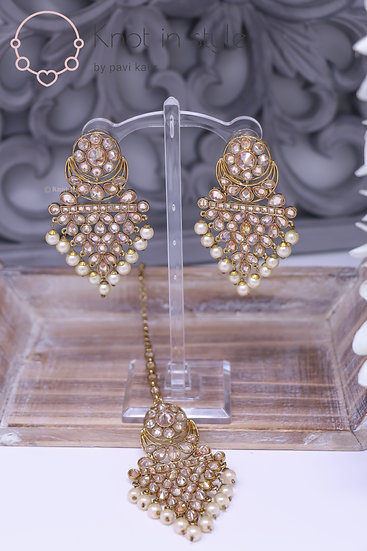 Polki Earrings/Tikka