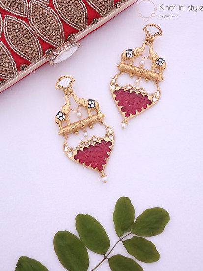 Kundan earrings (oversized)