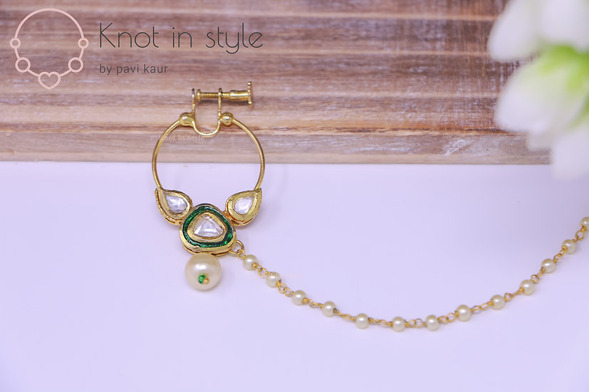 Kundan nose ring (medium)