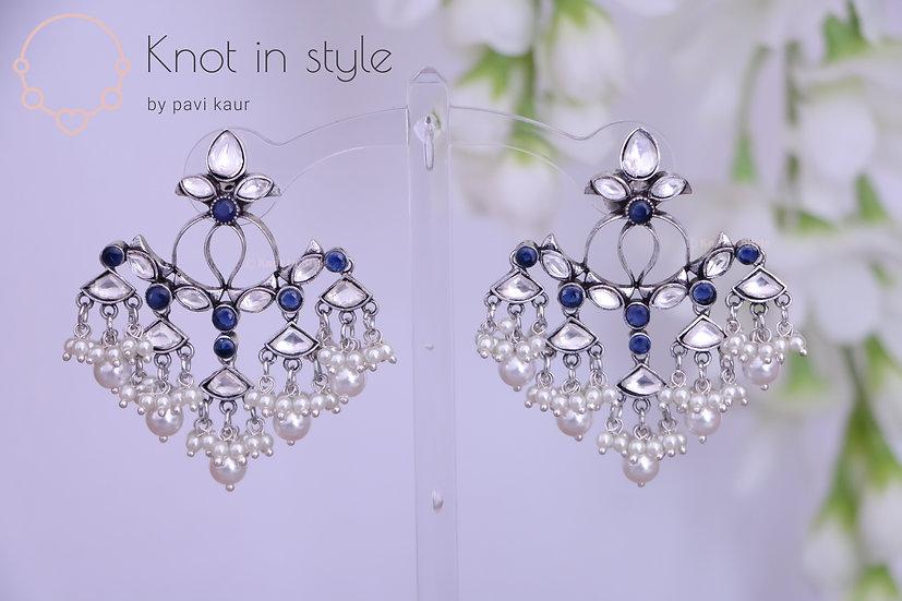 Oxidized earrings (no tikka)