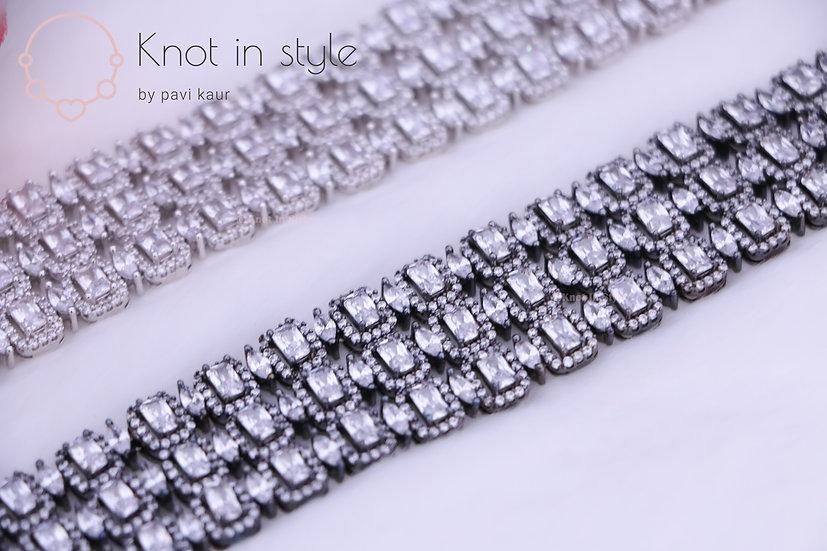 Diamond cut bracelets (single piece)