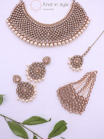 Polki necklace set (with or without passa)