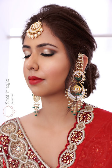 """JAISALMER"" paachi kundan earrings (oversized)"