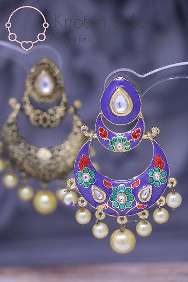 Hand-painted earrings (no tikka)