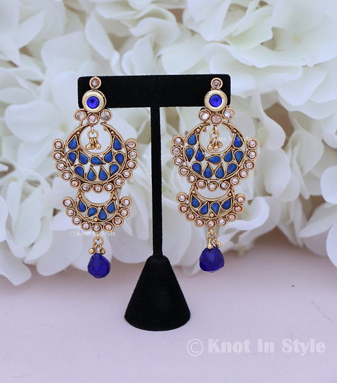 Polki earrings (no tikka)