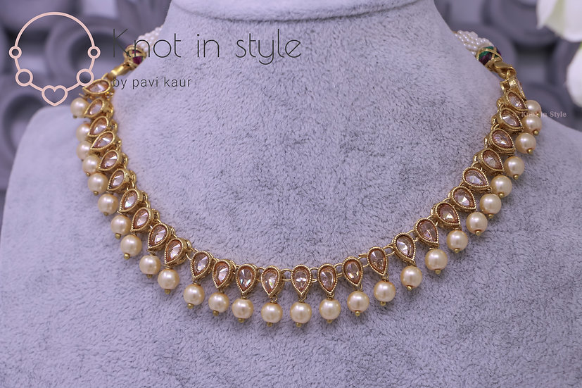 Polki single line choker set (no tikka)