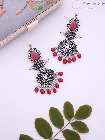Oxidized earrings (oversized)