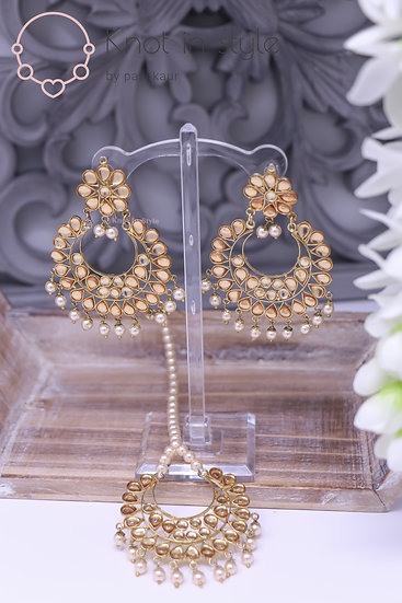 Kundan earrings/tikka set (OVERSIZE)