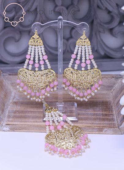Jadau earrings/tikka set