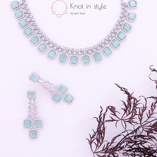 Diamond cut necklace set