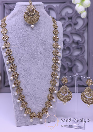 Polki necklace set ( Long haar )