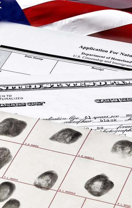 Certificate of Citizenship, fingerprint