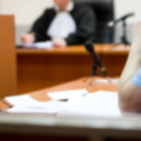 trial in the courtroom of the Russian Fe