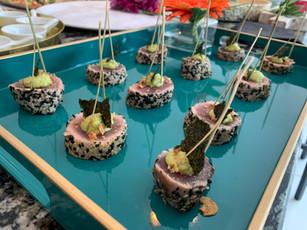 Chef Andy B - Tuna Ponzu Seseme seeds