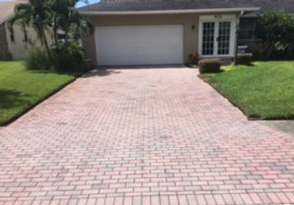 befre and after driveway pavers