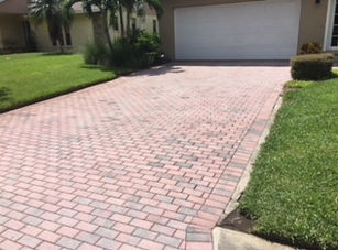 before and after driveway pavers