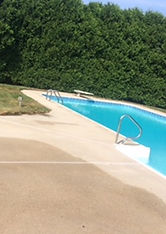 before and after pool deck