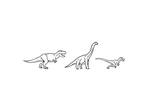 """Dinosaur Print 11x14"""""""