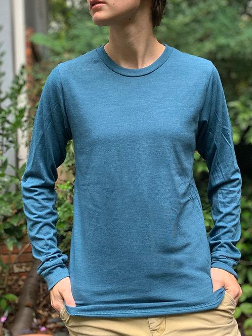 Steel Blue Long-Sleeve T-Shirt