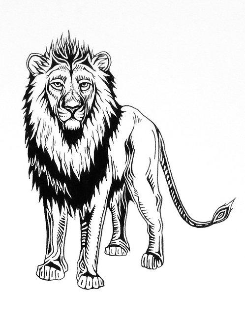 """Lion Print 18x24"""""""