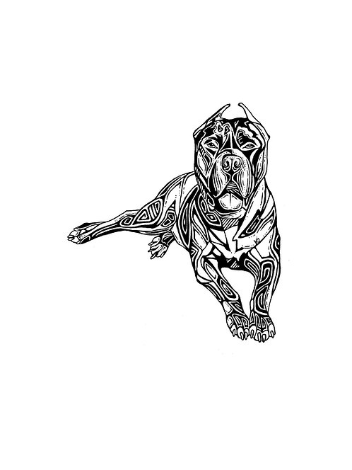 "Dog Print 11x14"""