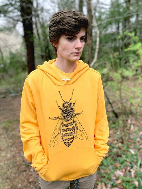 Gold Honey Bee Hoodie