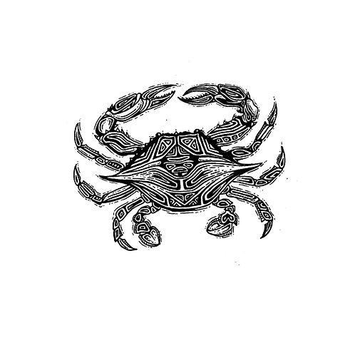 "Crab Print 11x14"""
