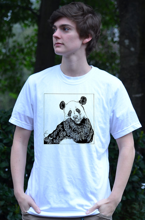 White Panda Super Soft Tri-blend Tee
