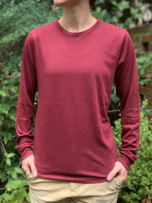 Maroon Long-Sleeve T-Shirt