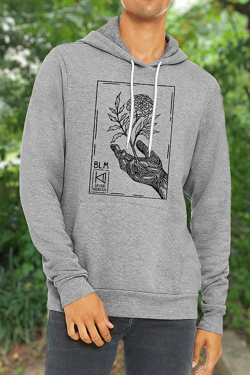 Black Lives Matter Gray Fleece-lined Hoodie