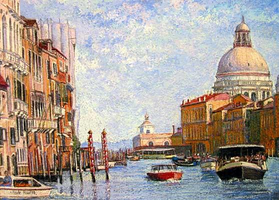 H. Claude Pissarro - Venise: Les Canots a Moteur