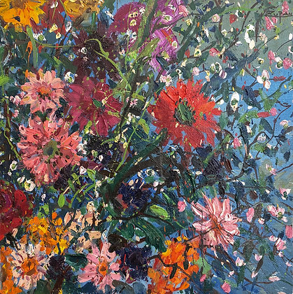 Bruno Zupan - Zinnias Bouquet