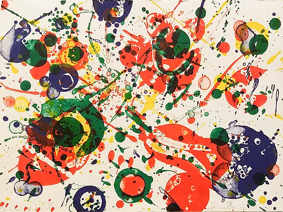 Sam Francis - Untitled, Plate 4 from The Pasadena Box Series