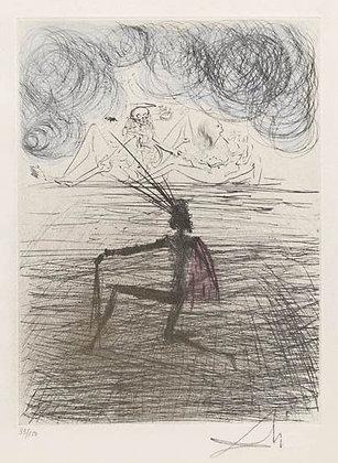 Salvador Dalí - Kneeling Knight