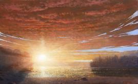 Sunrise over Walden Pond