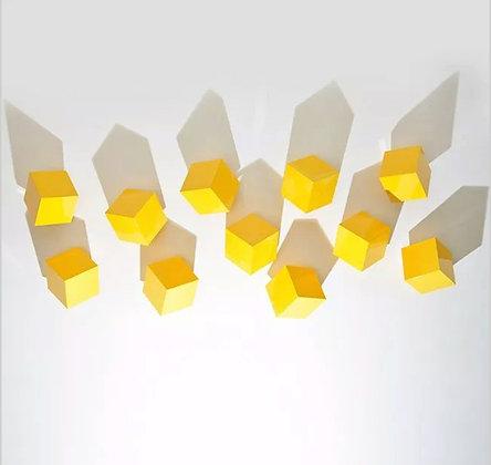 Lori Cozen-Geller - Chatterboxes, Yellow (Set of 5)