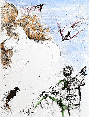 Salvador Dalí - Woman with Parrot
