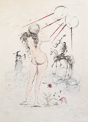Salvador Dalí - Woman, Horse and Death