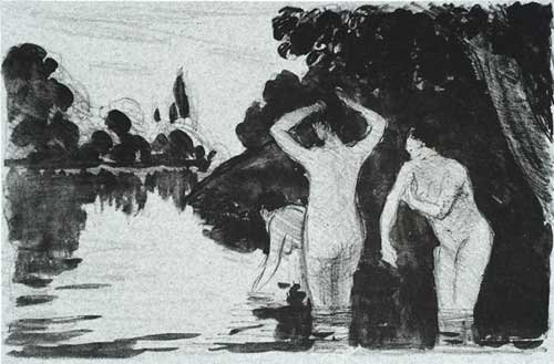 Camille Pissarro - Baigneuses, Le Jour