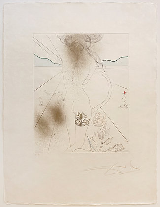 Salvador Dalí - Nude with Garter