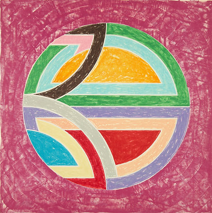 Frank Stella - Sinjerli Variation Squared with Colored Ground I