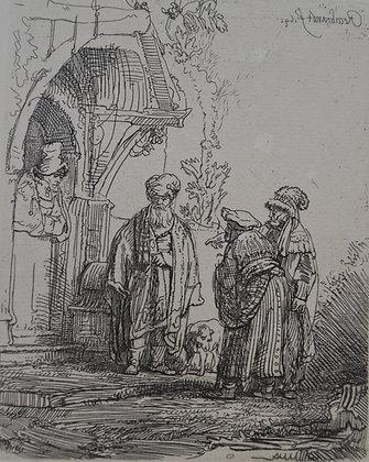 Rembrandt Harmensz Van Rijn - Three Oriental Figures