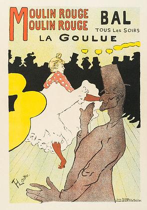 Henri Toulouse-Lautrec - LA GOULUE - MOULIN ROUGE
