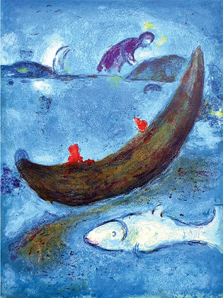 Marc Chagall - The Dolphin and the 300 Dragmas