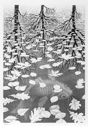 Maurits Cornelis Escher - Three Worlds