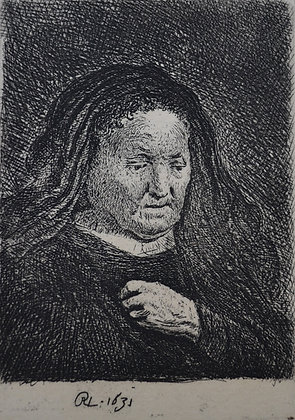 Rembrandt Harmensz Van Rijn - The Artist's Mother With Her Hand on Her Chest