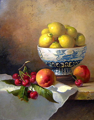 Carle Shi - Bowl of Lemons with Fruit